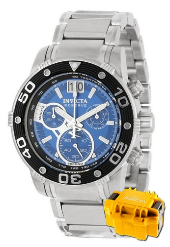 INVICTA black Invicta Reserve Men Swiss Quartz Chronograph 47mm Stainless Steel Watch 10588 w/ Impact Case 52A9FAC73237A2GS_1