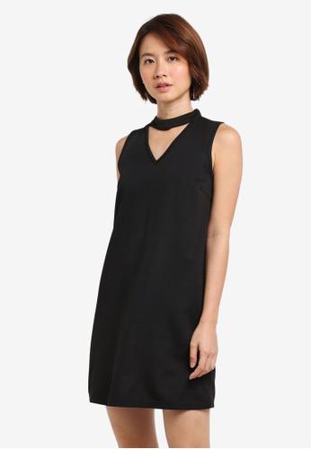 ZALORA black High Neck Detail Dress 7068EAA48F6294GS_1