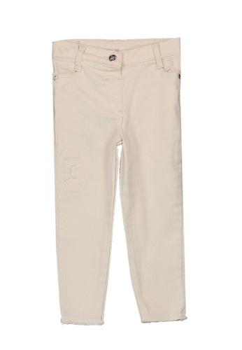 LC Waikiki beige Baby Girl's Gabardine Trousers 146EBKA8065811GS_1