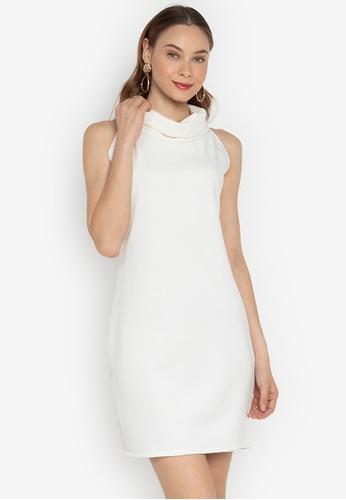 f0991463fcf Shop F.101 Sleeveless Cowl Neck Bodycon Dress Online on ZALORA ...