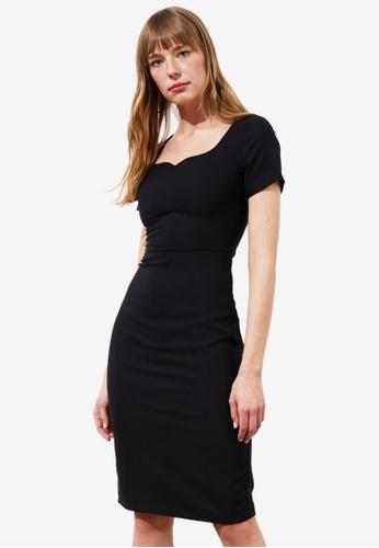 Trendyol black Basic Sweetheart Midi Dress 6197CAAF11DCE0GS_1