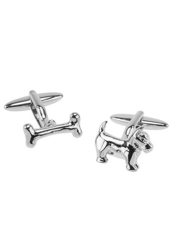 CUFF IT silver Dog and Bone Cufflinks CU047AC2UQE4HK_1