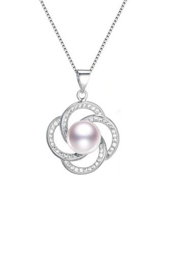 ADORA white Silver Pearl Zircon Pendent Necklace C80DEACAD08CD9GS_1