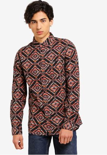 Cotton On 多色 民俗風印花長袖襯衫 27D9DAABF8CC07GS_1