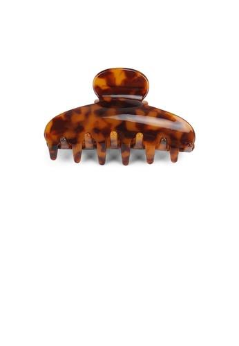 Glamorousky silver Fashion High-end Red Tortoiseshell Geometric Small Hair Claw 15E63ACA84EAEAGS_1