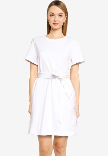 Banana Republic white Crew Knit T-Shirt Mini Dress 11CA1AA1ABBC63GS_1