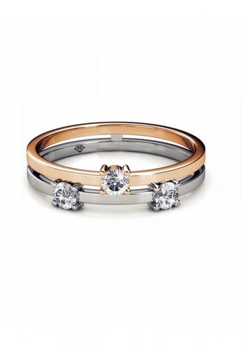 Her Jewellery multi Swarovski® Crystals - Bonding Ring (18K White Gold Plated) Her Jewellery HE581AC0R9UFMY_1