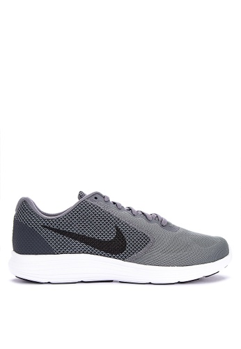 Nike grey Men's Nike Revolution 3 Running Shoe 1B55DSH1742306GS_1