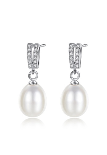 A.Excellence white Premium White Pearl Elegant Earring 72366AC063FB7DGS_1