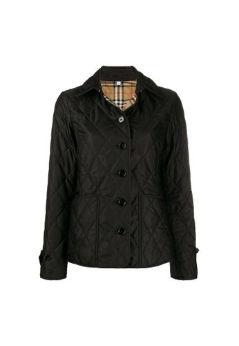 Burberry black Burberry Diamond Quilted Thermoregulated Jacket in Black 855C1AA7BE75ABGS_1