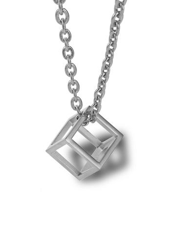 CELOVIS silver CELOVIS - Constance Geomatric Square Pendant Necklace in Silver 2D159AC03958BEGS_1