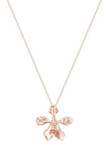 RISIS pink RISIS 18K Rose Gold Plated Natural Vanda Wee Kim Lian Orchid Brooch/Pendant 6D453ACC3EB0FBGS_1