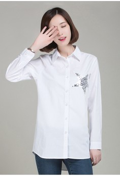 Slim Fit Casual Long Shirt