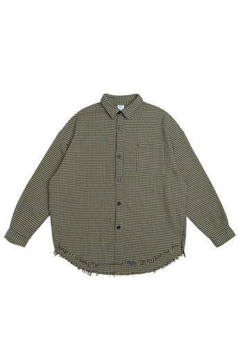 Twenty Eight Shoes Simple Casual Plaid Long Shirt 7024W21 5A611AA006D508GS_1