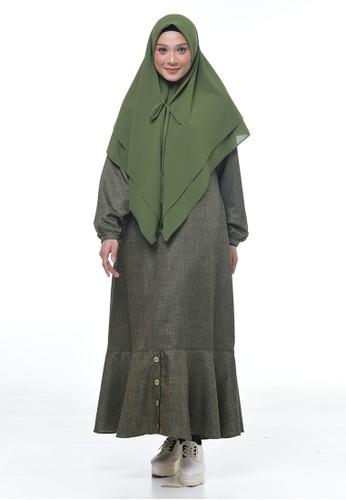 RABBANI green Dress Muslim Hyuri 8AE19AADF3E373GS_1