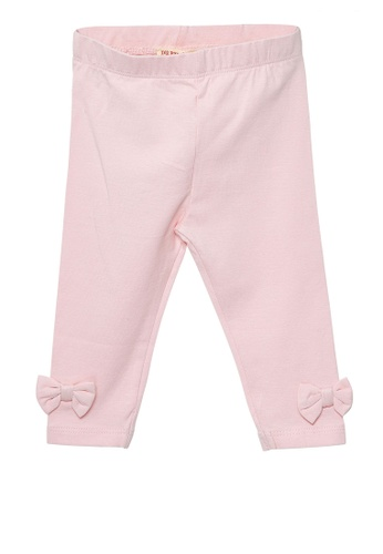 Du Pareil Au Même (DPAM) pink Pink Bow Leggings 83F5FKACDFEB64GS_1
