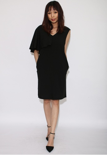 Seoul in Love black Beona Dress in Black 13BB3AA6C2D50EGS_1