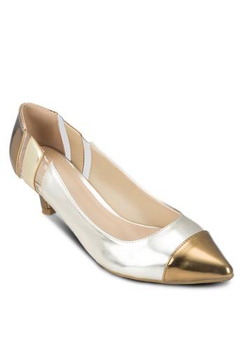 拼接esprit台北門市尖頭低根鞋, 女鞋, 厚底高跟鞋