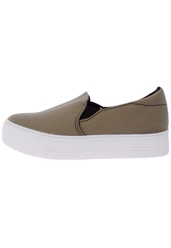 Maxstar C7 30 Synthetic Cotton White Platform Slip on Sneakers US Women Size MA168SH60DXZHK_1