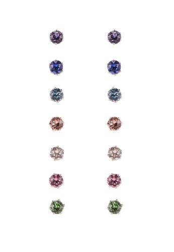 Mestige 銀色 Solitaire Everyday Pack 耳環With Swarovski Crystals 5E8C7ACB2B46E3GS_1