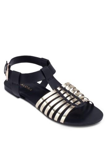 金屬感編織帶zalora taiwan 時尚購物網鞋子涼鞋, 女鞋, 鞋