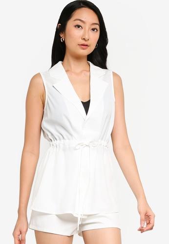 ZALORA BASICS white Drawstring Vest 83630AA2A9955BGS_1