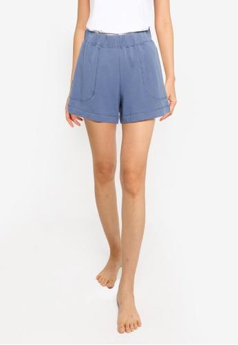 Old Navy 藍色 Bouncy 素色短褲 0731CAA7D6F4A3GS_1