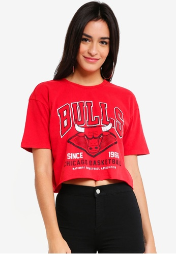 TOPSHOP red Red Bulls Crop Tee 3F500AA68F0764GS_1