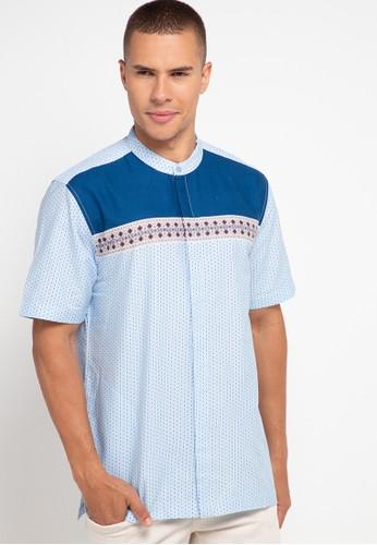 Zehavi blue Ghadi Printed Short Sleeve Koko D415BAA6C6C801GS_1