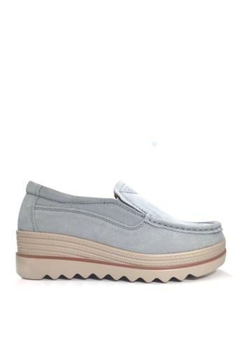 Twenty Eight Shoes 藍色 牛反絨車線輕便鞋 VC3088 388B9SHB9E4565GS_1