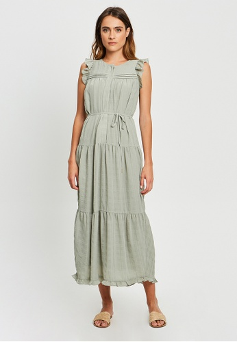 The Fated green Francis Midi Dress C8136AADE72482GS_1