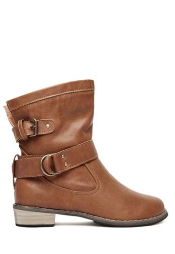 Twenty Eight Shoes brown Buckle Belt Mid Boots VB8809 D6D45SHB2DE557GS_1