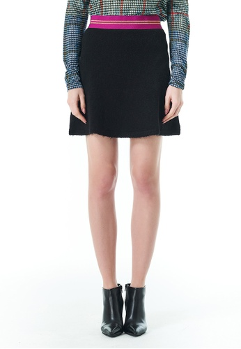 United Colors of Benetton black Skirt with Lurex Elastic 72B3AAA822AFCBGS_1