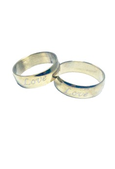 Stainless Steel Gold Love Ring