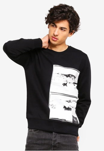 0054c4abc7f Calvin Klein black Andy Warhol Landscape Regular Crew Neck Sweatshirt - Calvin  Klein Jeans 528F0AA3A60CE2GS 1