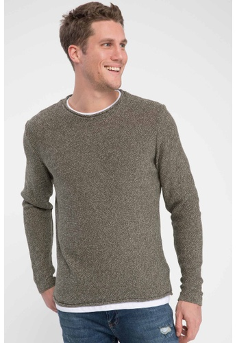 DeFacto 綠色 Tricot Pullover 74610AA050356DGS_1