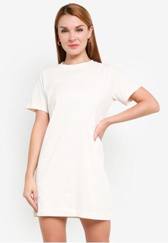 H&M white Cotton T-Shirt Dress 72F6DAA861DB52GS_1