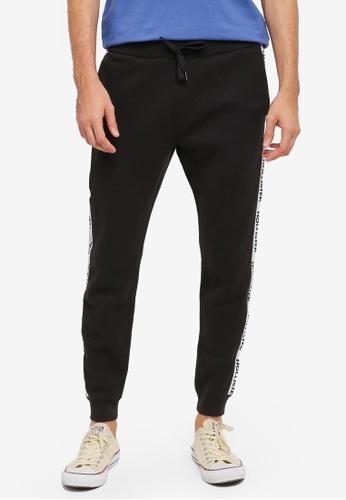 Hollister black Skinny Fit Graphic Sweatpants HO422AA0T1BIMY_1