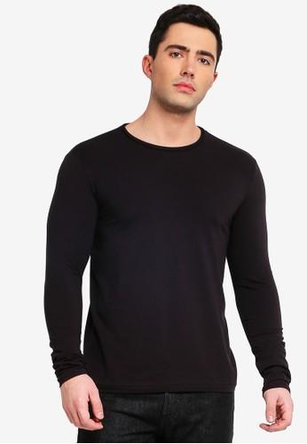OVS black Long Sleeve Stretch T-Shirt B4369AA48291EAGS_1