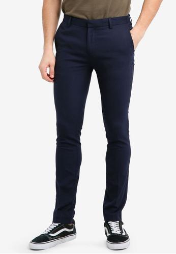 Topman blue Navy Ultra Skinny Fit Smart Trousers 6B99FAA40DD2E1GS_1
