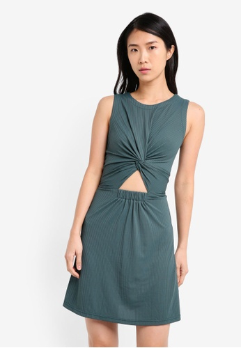 Buy ZALORA Tank Dress With Twist Front Online on ZALORA Singapore ff23c7ed5