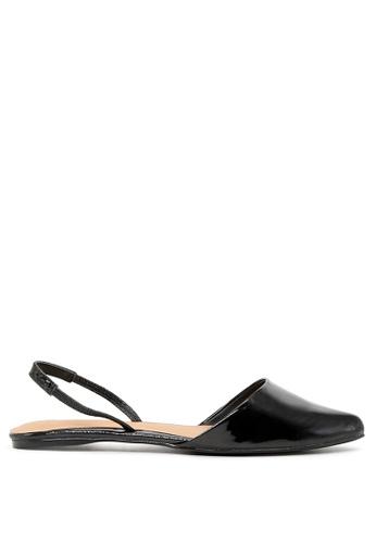 London Rag 黑色 黑色平底露跟凉鞋 EA5CDSHD465871GS_1