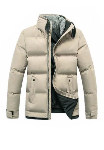 Twenty Eight Shoes brown VANSA  Fashion Plush Collar Cotton Coat VCM-C011 1BE2BAAD99585EGS_1
