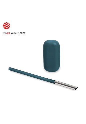 Viida [VIIDA] Morgen UiU Collapsible and Reusable Straw, FOREST GREEN (S Series) 0.8cm, Premium 316 Stainless Steel & Silicone body - 6 Colors Available 5A2D7HL65DABDAGS_1