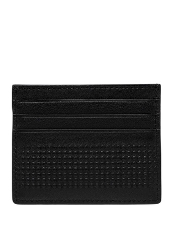 REPLAY black REPLAY LEATHER CARDHOLDER WITH DIMPLED OUTLINE DCBA8ACA768888GS_1