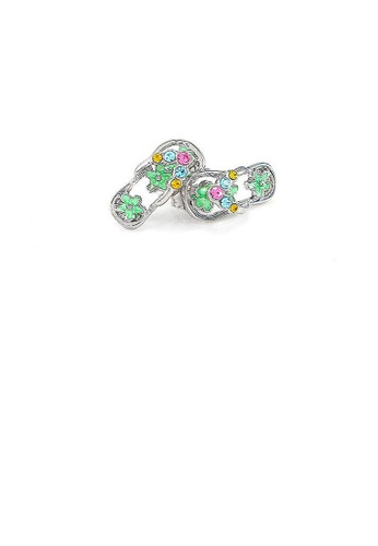 Glamorousky multi Cutie Light Green Shoes Earrings with multi-color CZ 01982ACE4FC27FGS_1