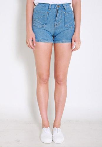 Leline Style blue Elison Denim Shorts LE802AA0FKUFSG_1