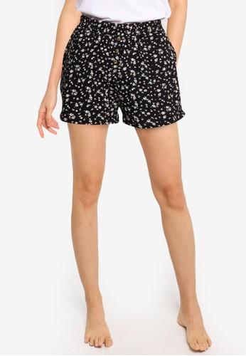 Cotton On Body black Jersey Button Boxer Shorts CB25CAA1B24659GS_1