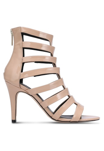 Something Borrowed beige Strappy Caged Heels F0588ZZ592E108GS_1
