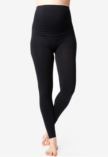 Ripe Maternity black Maternity Seamless Support Leggings 2D96EAAAD10D14GS_1